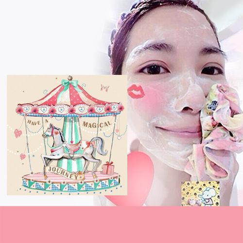 現貨 Pikka Pikka A60 旋轉木馬 林鴒 日本製 臉部毛孔潔淨布 洗臉布 花猴分享 熱賣中!