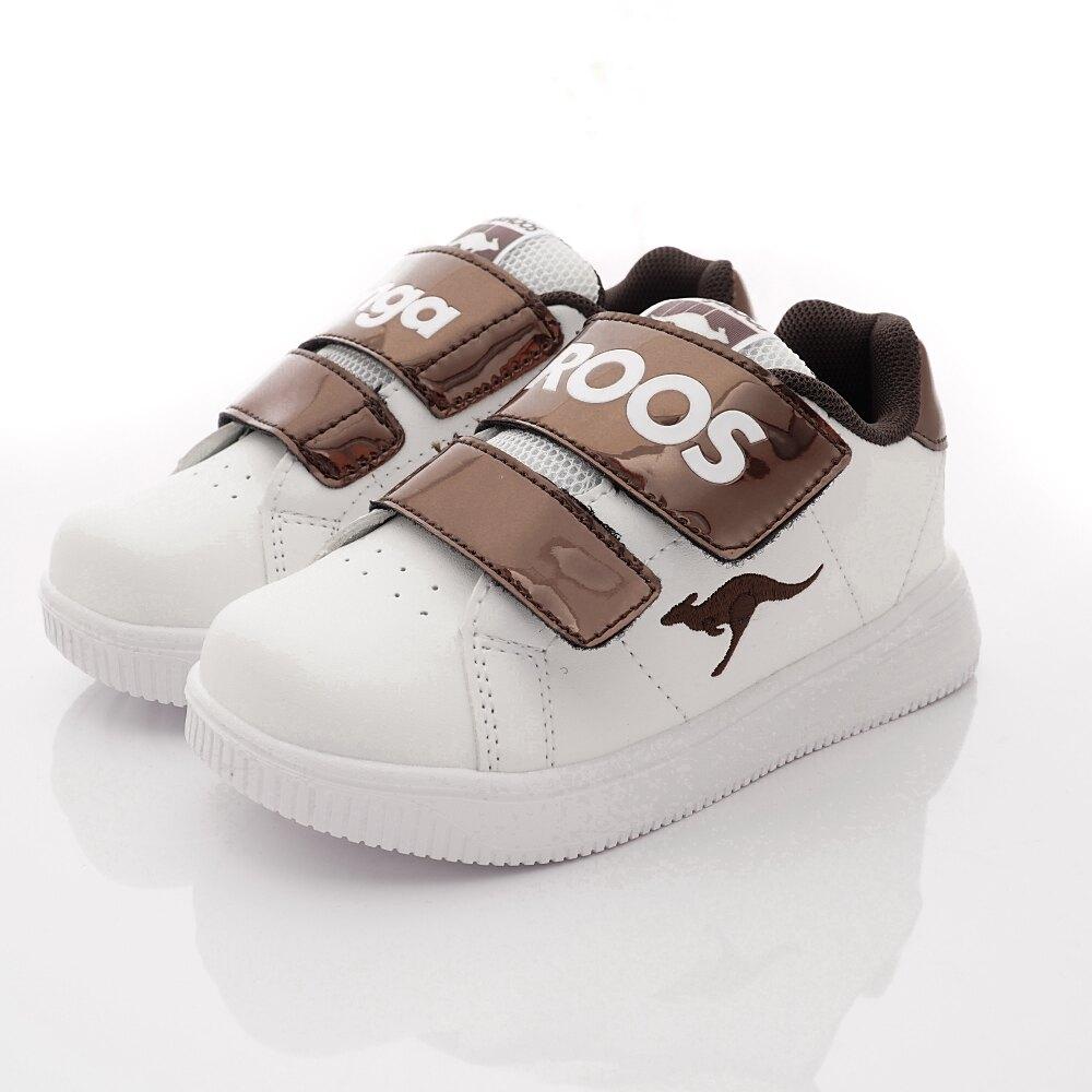 KangaROOS休閒運動童鞋-超輕量經典小板鞋-KK01341咖啡(中大童段) 618購物節