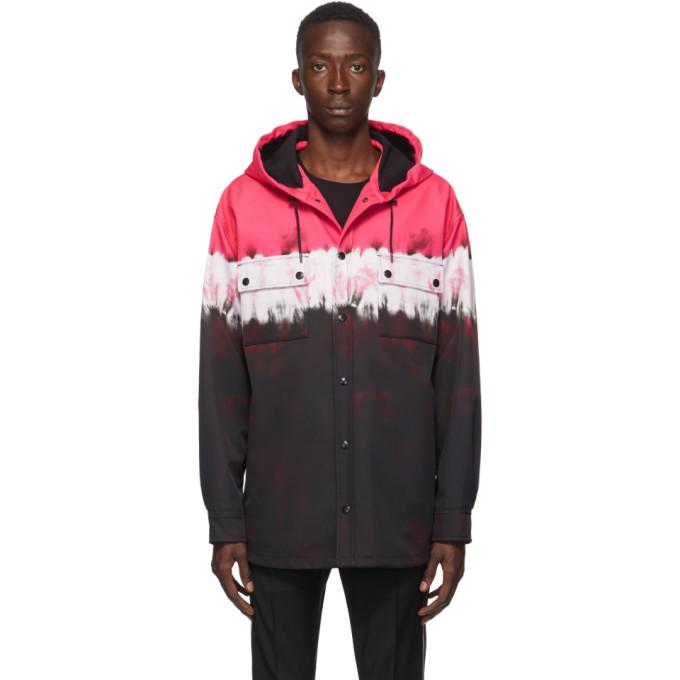 Valentino 黑色 and 粉色扎染夹克