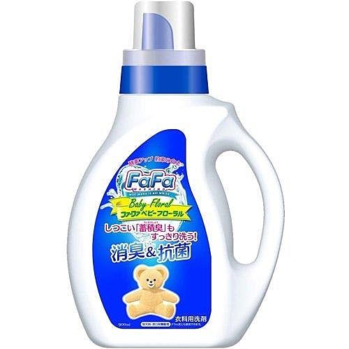 日本【FaFa熊】嬰兒花香抑菌洗衣精900ml 清新花香