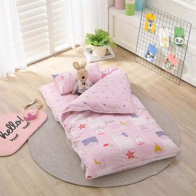 【IN HOUSE】晚安熊熊-100%精梳棉200織紗-兒童睡袋(粉)