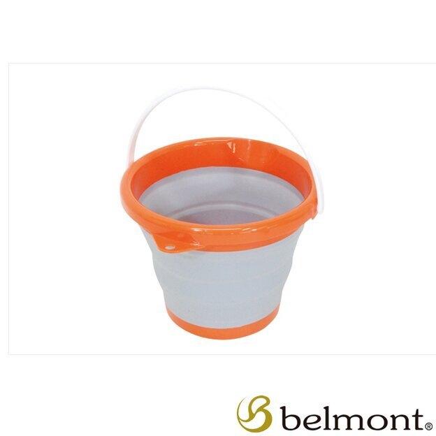 ├登山樂┤日本 Belmont 摺疊水桶 橘色 # MR-002