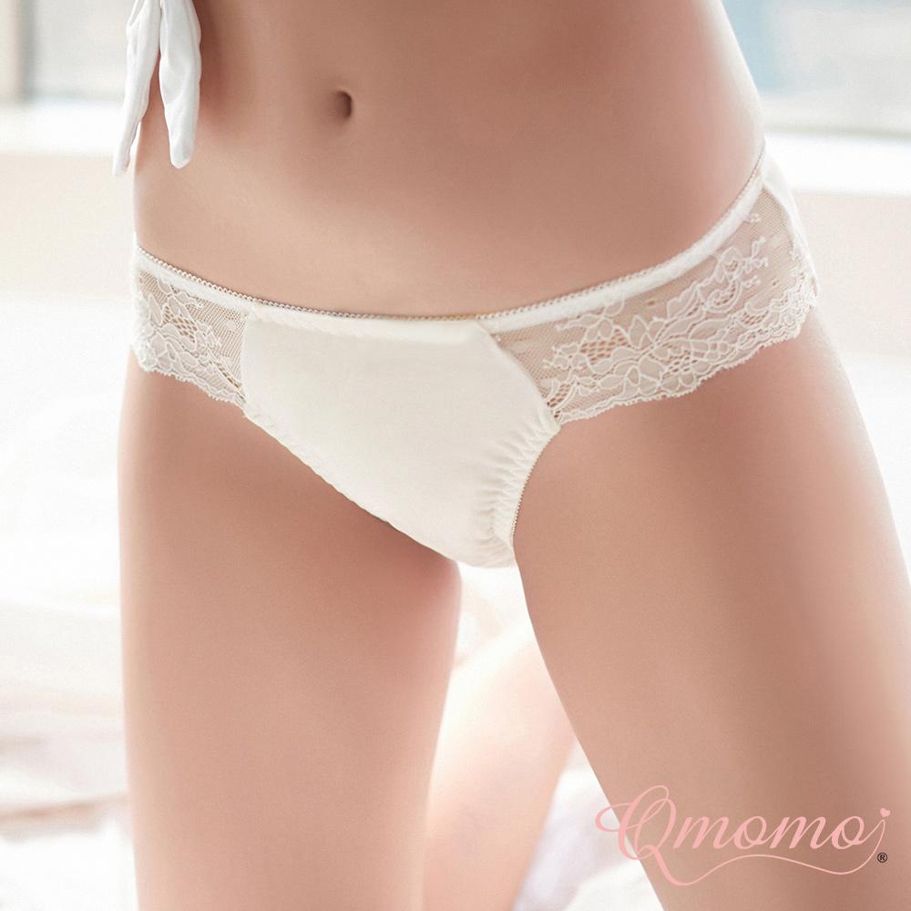 內褲 【晚安甜心】蕾絲彈性小褲(米)