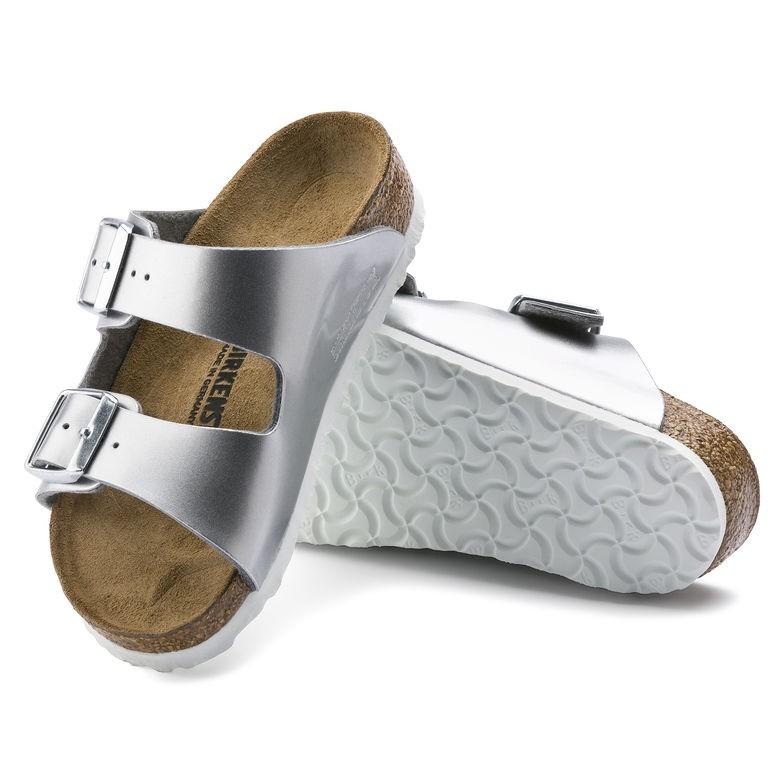 宜蘭勃肯 BIRKENSTOCK Arizona 銀色二條拖鞋 親子鞋 童鞋 1012476