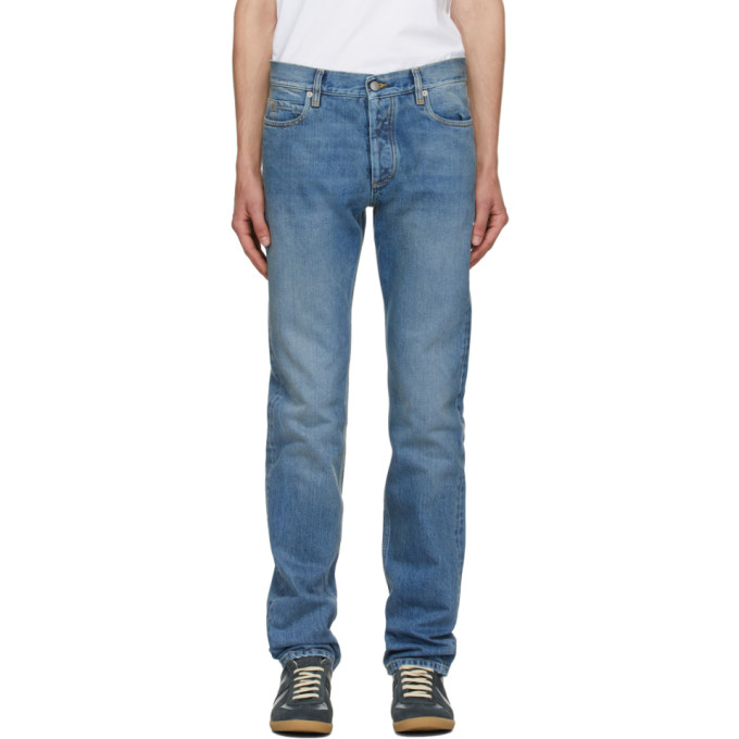 Maison Margiela 靛蓝色复古水洗牛仔裤