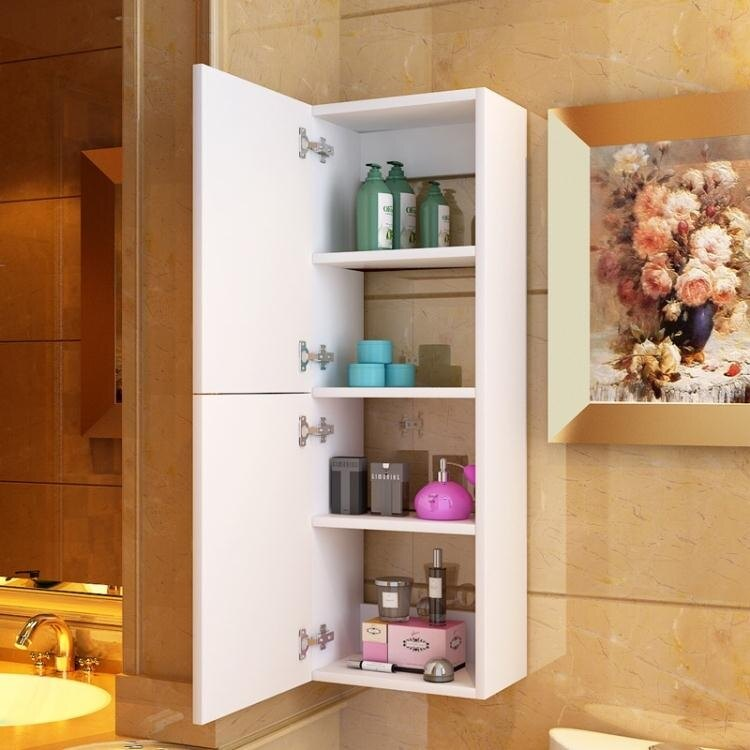 [快速出貨] 防水吊櫃衛生間浴室櫃實木收納櫃小側櫃儲物櫃馬桶邊櫃掛牆式壁掛  七色堇 元旦 交換禮物