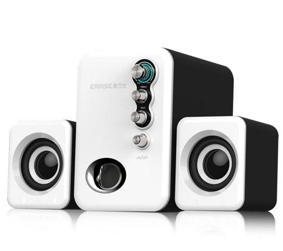 電腦音響EARISE/雅蘭仕Q8音響電腦音響臺式機家用小音箱迷你超重低音炮