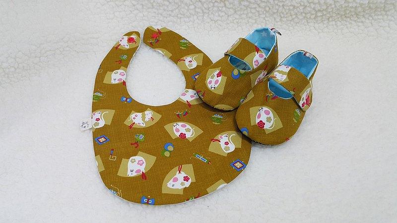 和風小鼠  寶寶彌月禮盒兩件組