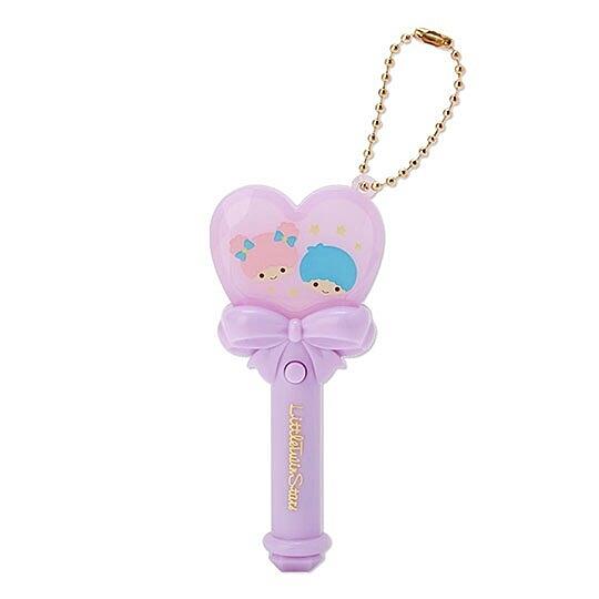 小禮堂 雙子星 愛心權杖造型LED鑰匙圈 LED掛飾 發光吊飾 玩偶配件 (紫) 4550337-69516