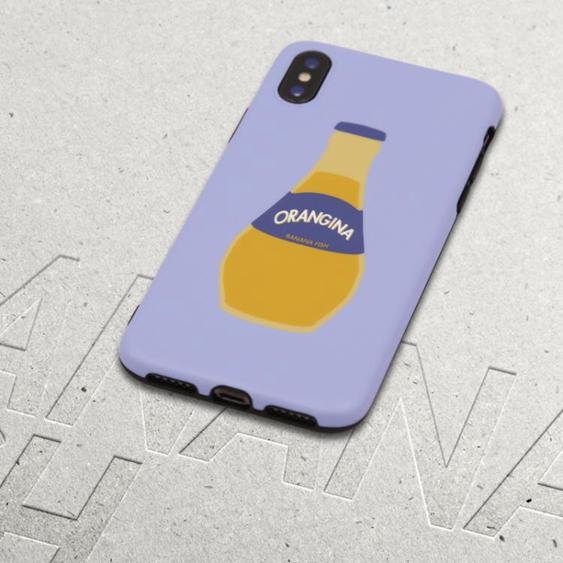 香蕉魚原創[小橙瓶]iPhoneXR/XSMAX蘋果8/8P手機殼全包軟殼保護套
