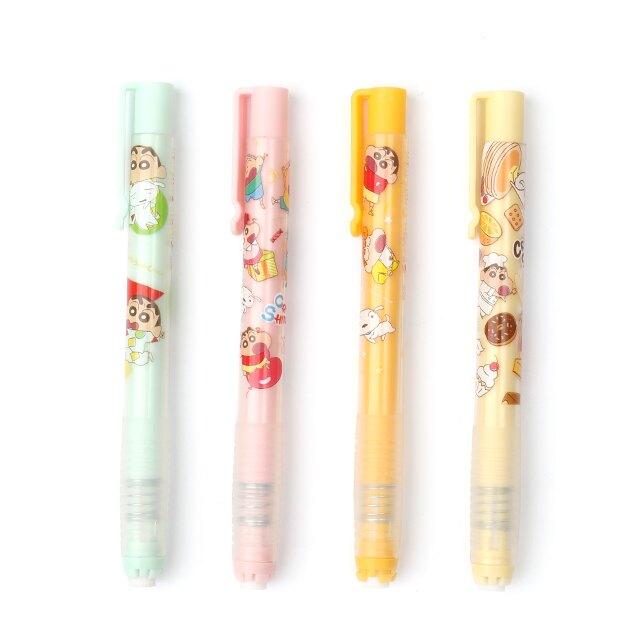 蠟筆小新自動橡皮擦筆-Norns  Crayon Shinchan 正版授權文具 按壓式細字筆型橡皮擦
