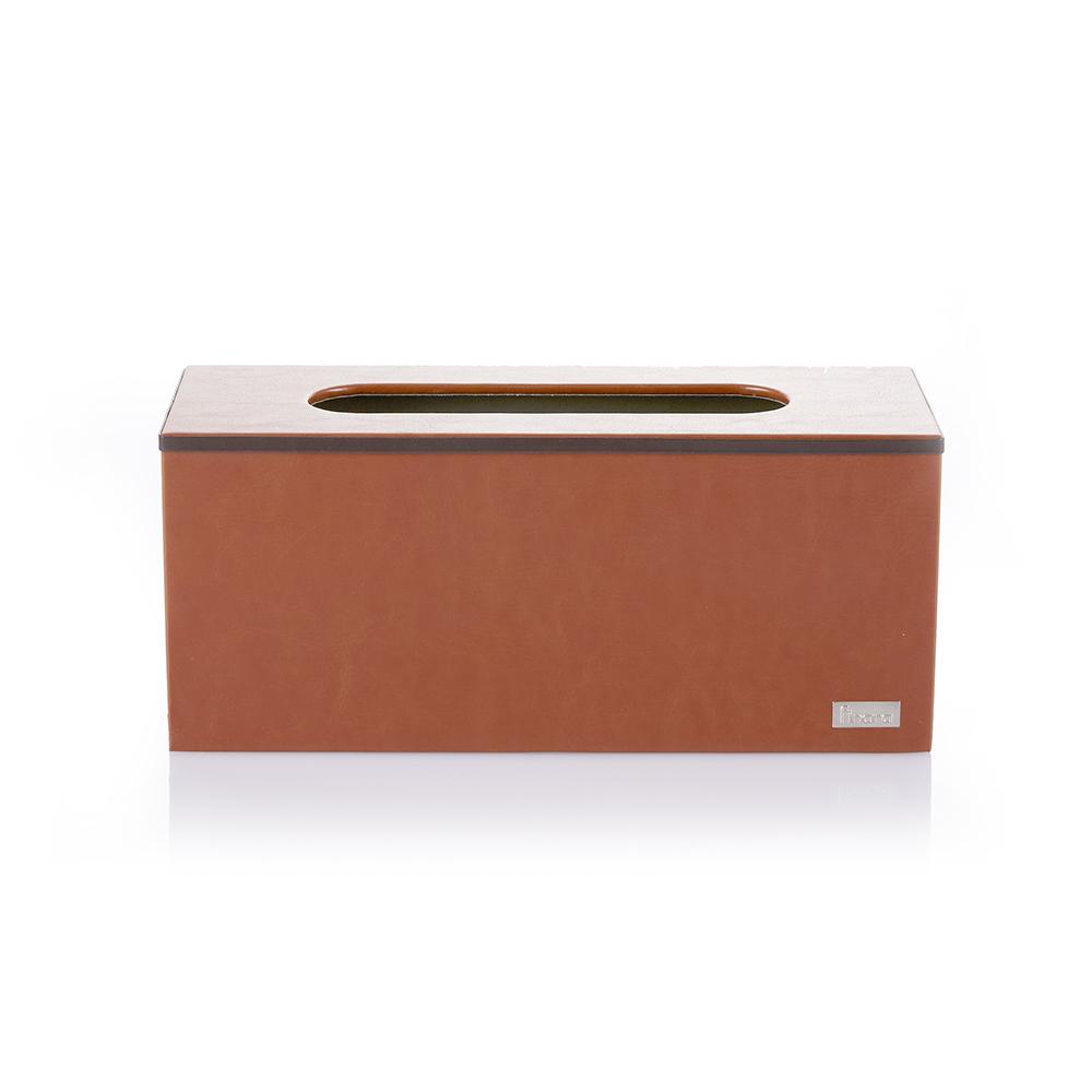 【Finara 費納拉】愛馬仕橘-桌上型擦手紙巾專用盒