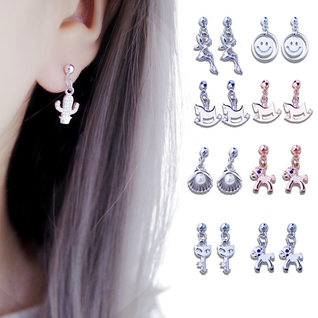 韓國造型小垂針夾系列 925銀針 夾式 針式 耳環【Bonjouracc】