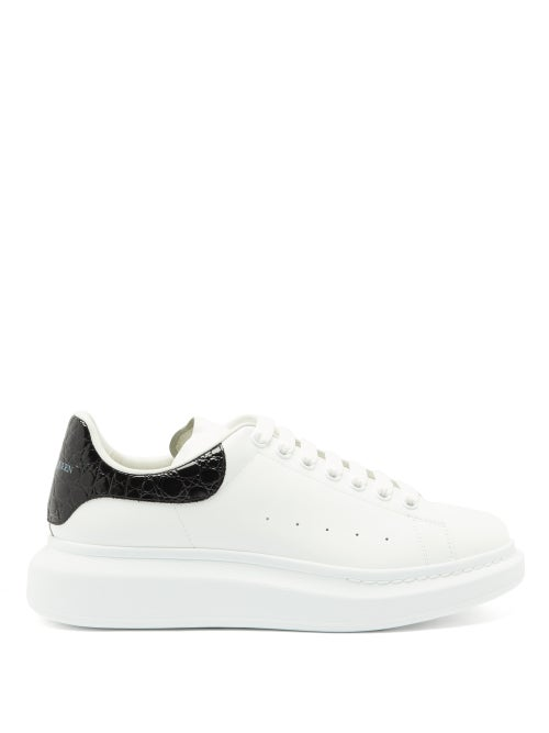 Alexander Mcqueen - Exaggerated-sole Leather Trainers - Mens - White