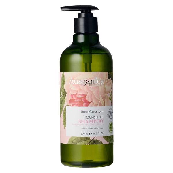 【澳潔蕬Ausganica】頂級有機成份玫瑰天竺葵保濕洗髮精500ML