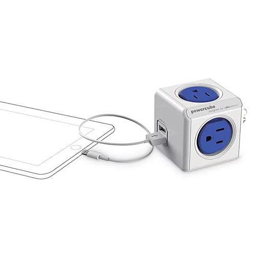 PowerCube 防雷抗突波款 雙USB擴充插座- 藍色 / 個 4220BL-USOUPC