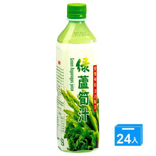 津津綠蘆筍汁600ML x24/箱【愛買】