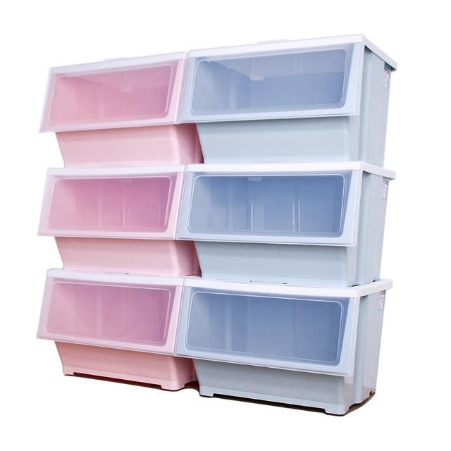 HOUSE 大容量 艾夏 掀蓋式 可堆疊 玩具衣物 收納 收納箱 39L 免運 廠商直送
