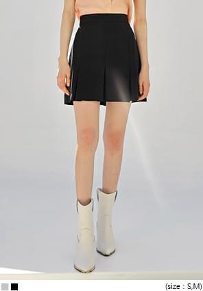 韓國空運 - 氣質系A字寬百褶短裙 裙子