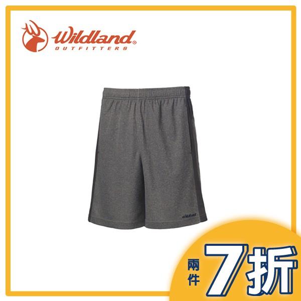 【Wildland 荒野 男 雙色透氣抗UV排汗短褲《灰色》】0A61630-90/快乾/吸濕排汗/抗UV/運動短褲