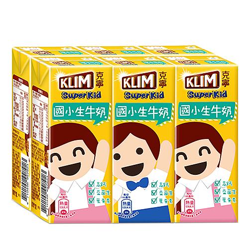 克寧超級成長國小生牛奶198mlx6【愛買】