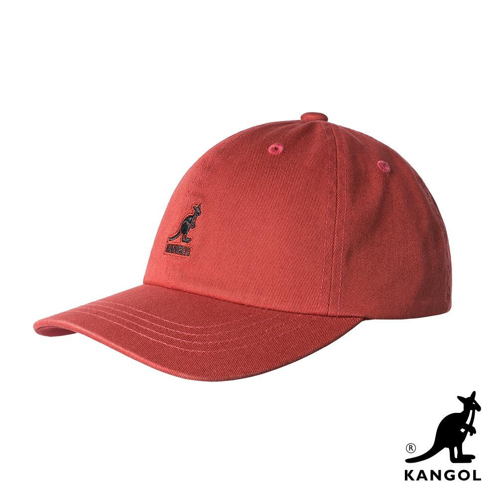 【KANGOL】WASHED 棒球帽-橘色 K5165HT