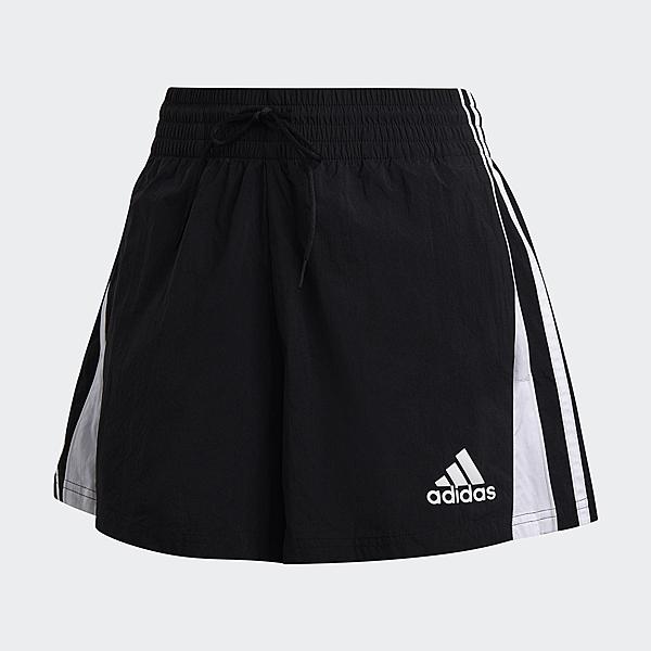 ADIDAS 3-STRIPES 女裝 短褲 慢跑 訓練 透氣 寬鬆 經典 黑【運動世界】FS6154