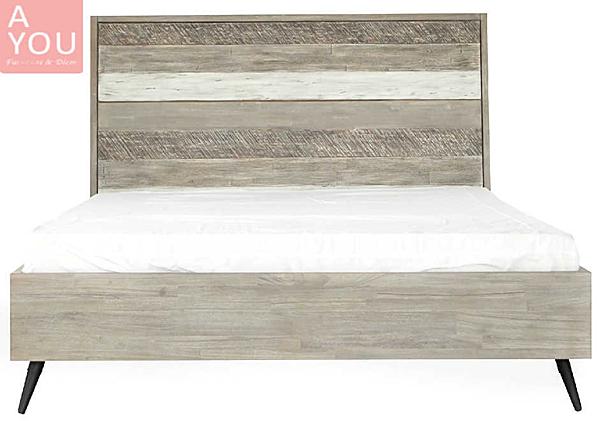 哈瓦那仿舊木紋6尺雙人床(大台北地區免運費)【阿玉的家2020】