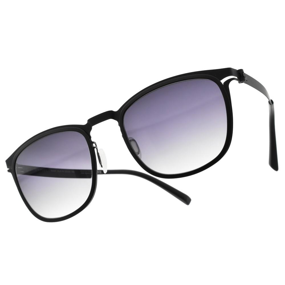 韓國 VYCOZ - MARK BLK-B (黑-漸層藍鏡片) 薄鋼簡約款 太陽眼鏡 -金橘眼鏡