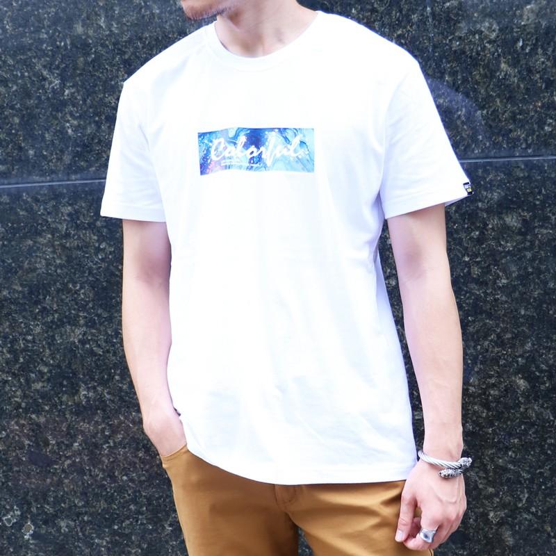【RETOP】渲染潑灑圓領T 白 男女款 短袖 T恤 RM201104-01