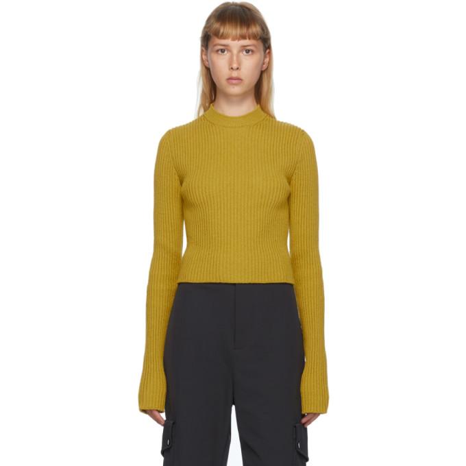 Bottega Veneta 黄色罗纹圆领毛衣