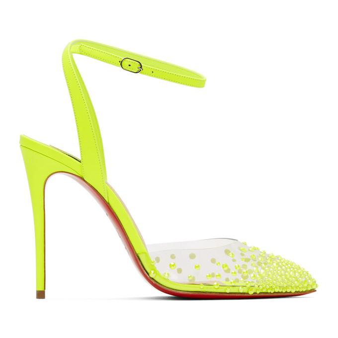 Christian Louboutin 黄色 Spikaqueen 100 PVC 高跟鞋