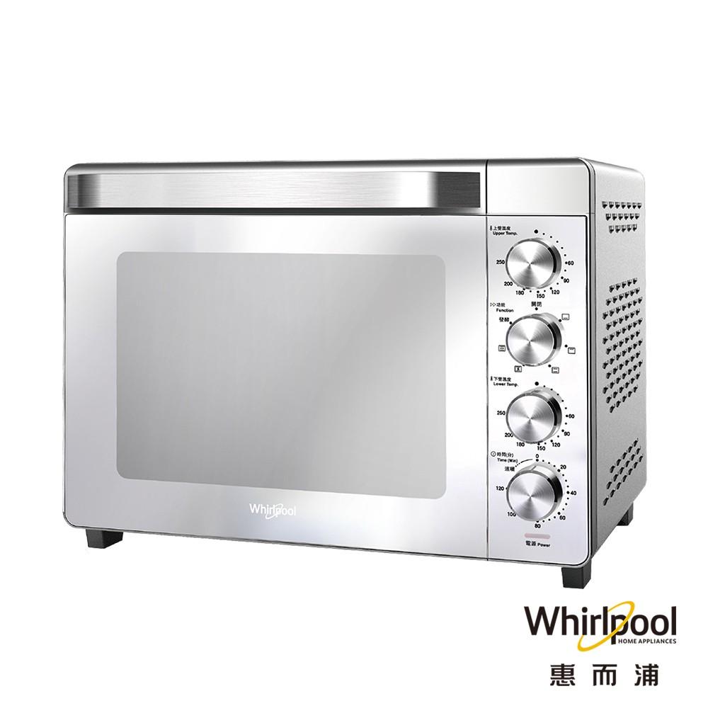 Whirlpool惠而浦 32公升不鏽鋼機械式烤箱 WTOM321S 【免運全新未拆封公司貨原廠保固一年】