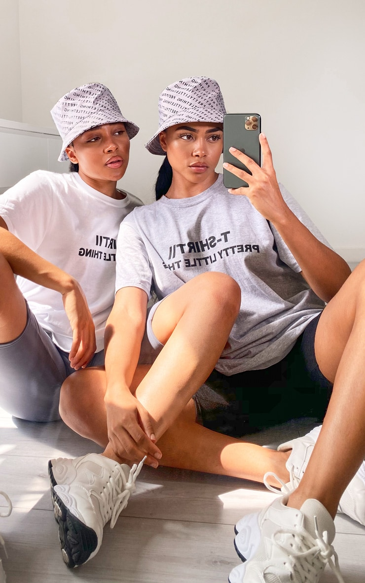 PRETTYLITTLETHING Grey Official T Shirt