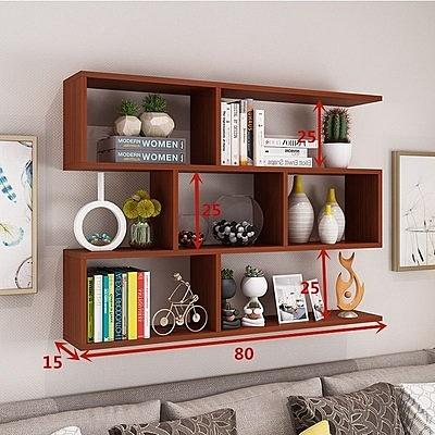 壁掛書架 牆上置物架酒架創意壁掛牆架餐廳吊櫃客廳牆體櫃現代簡約牆櫃書架T