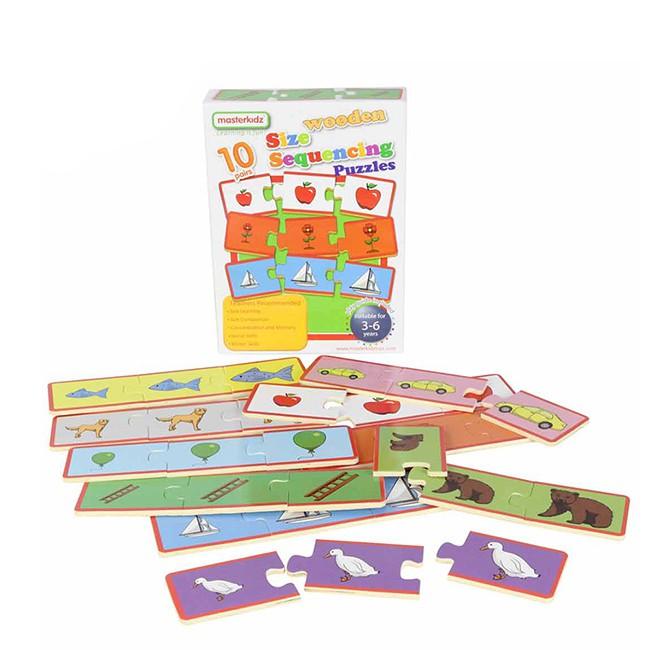 【英國Masterkidz】大小順序木製學習拼圖-盒裝