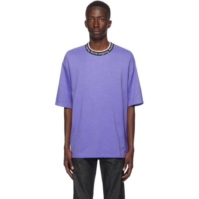 Acne Studios 紫色提花徽标 T 恤