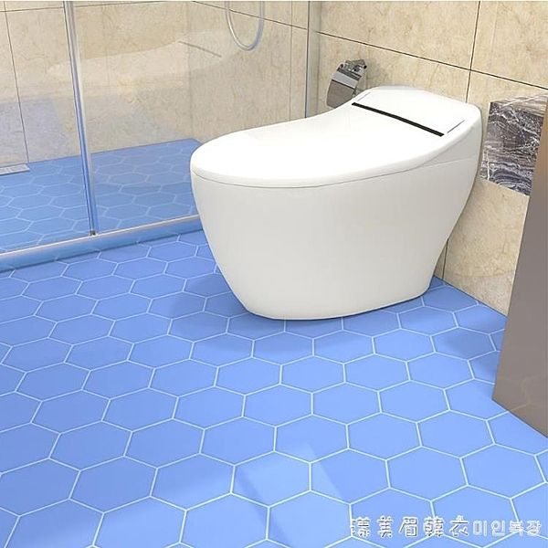 地板貼自粘衛生間浴室地貼廁所廚房瓷磚貼紙裝飾防水防滑加厚耐磨NMS【美眉新品】