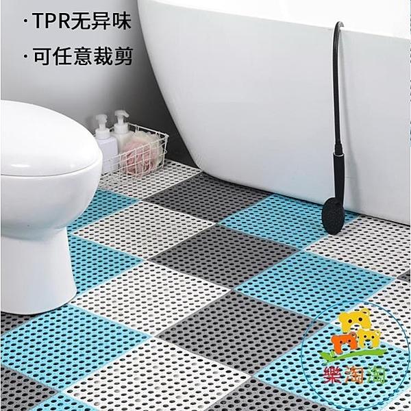 浴室防滑墊腳墊衛生間柔軟彈性吸盤拼接墊拼接地墊樂淘淘