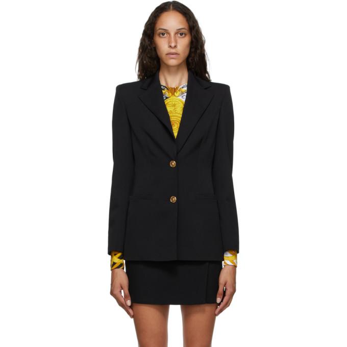 Versace 黑色双扣西装外套