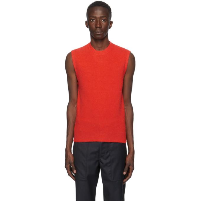 Lanvin 红色无袖马甲