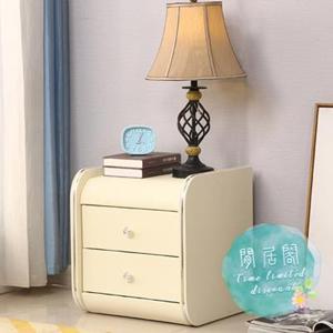 床頭櫃 簡約現代臥室小戶型迷你儲物櫃窄歐式簡易白色皮質床邊櫃子