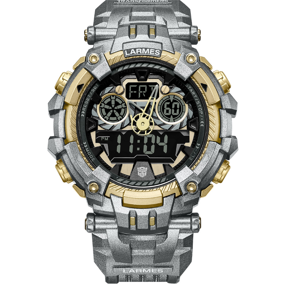 LARMES Transformers 變形金剛 聯名限量潮流腕錶(鋼鎖)LM-TF001.GLG3G.121.3GG