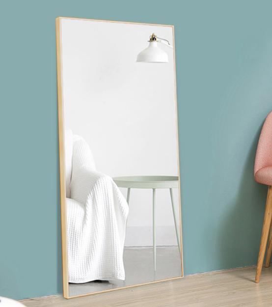 50*150cm 試衣鏡 穿衣鏡 立鏡 全身鏡 家用穿衣鏡落地鏡試衣鏡可移動服裝店宿舍臥室壁掛墻鏡子