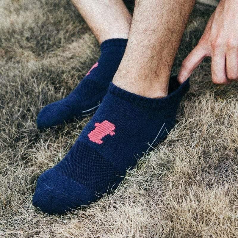 舒壓生活踝襪-深藍-5雙_送titan立體洗衣袋 L(26-29cm)