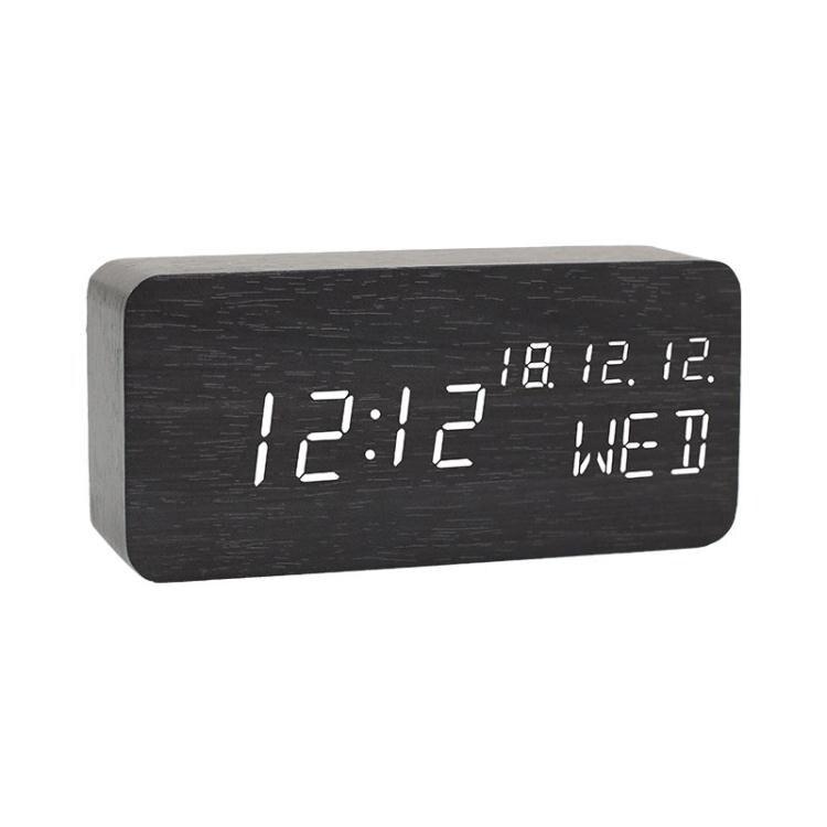 鬧鐘 木質床頭鬧鐘臥室靜音夜光座鐘簡約創意時鐘數字學生電子鐘全館折扣限時優惠