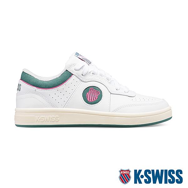 【超取】K-SWISS North Court時尚運動鞋-女-白/綠/桃紅