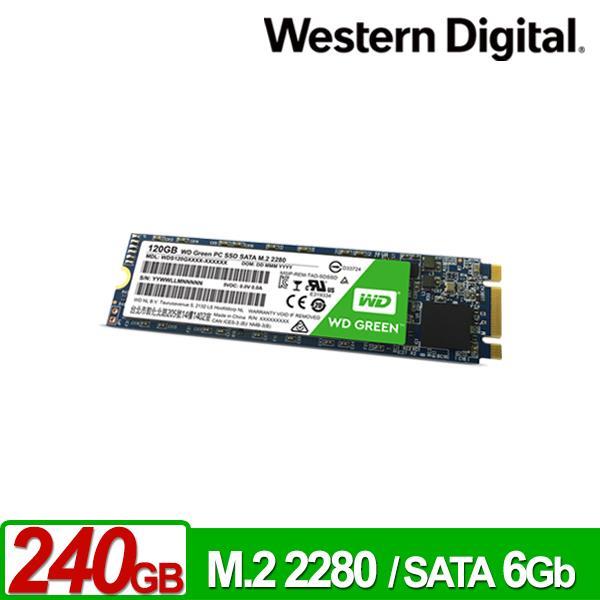 WD 綠標 240GB SSD M.2 2280 固態硬碟