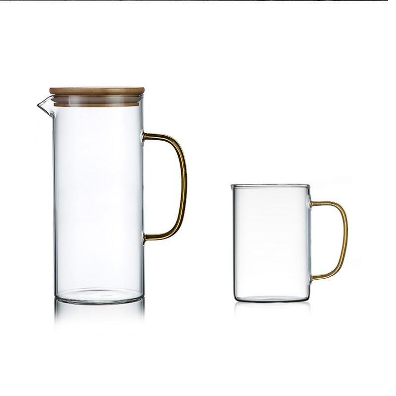 冷水壺家用涼水壺玻璃耐高溫涼水杯大容量超大涼茶壺涼白開水壺
