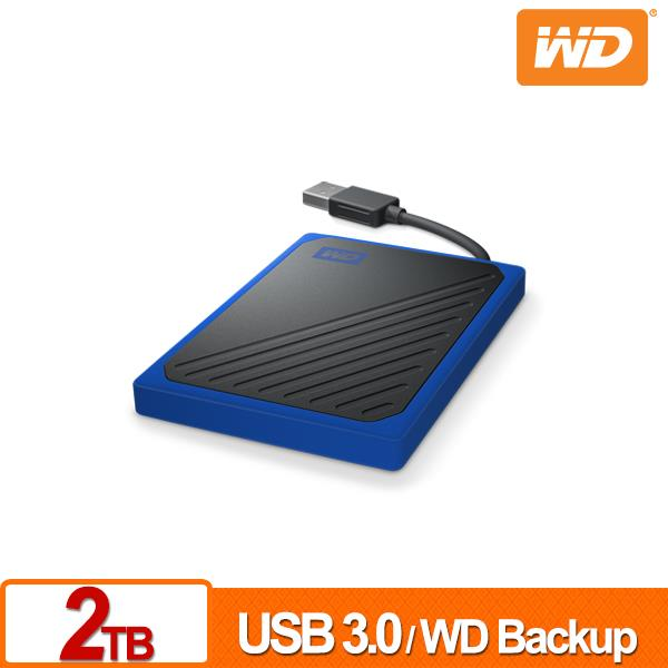 WD My Passport Go 2TB(黑/深藍) 外接SSD
